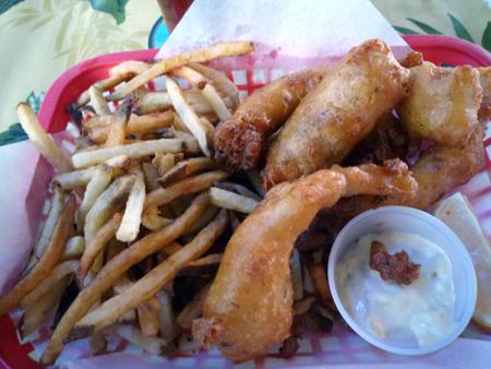 mahi mahi fish and chips